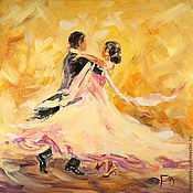 Картины и панно handmade. Livemaster - original item Oil painting on canvas. In a whirlwind of dance. Handmade.