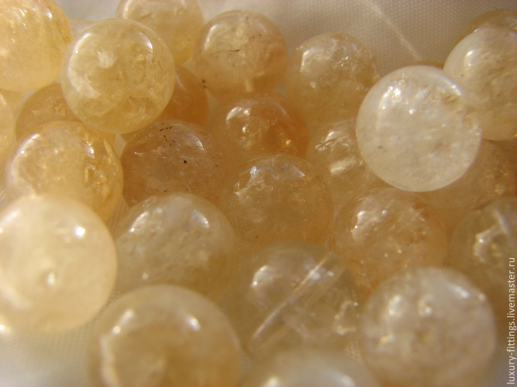 Citrine beads, 10 mm, smooth, Beads1, Moscow,  Фото №1