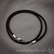 Украшения handmade. Livemaster - original item Leather lace on the neck (3 mm thick). Handmade.
