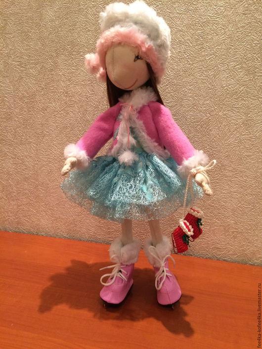Коллекционные куклы ручной работы. Ярмарка Мастеров - ручная работа. Купить Кукла ФИГУРИСТКА. Handmade. Кукла на заказ, шёлк