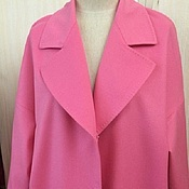 Одежда handmade. Livemaster - original item Pink coat of cashmere and Angora. Coat AMODAY.. Handmade.