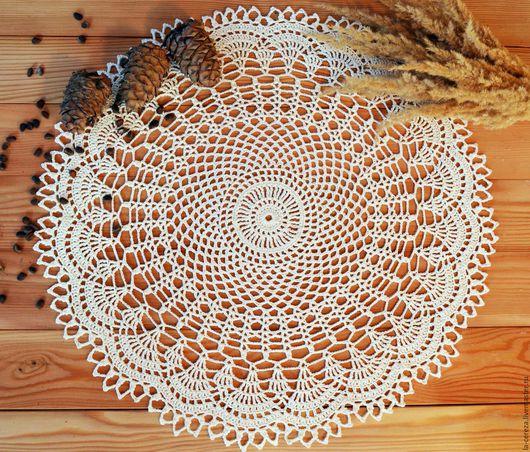 """Текстиль, ковры ручной работы. Ярмарка Мастеров - ручная работа. Купить Салфетка крючком """"Воздушная"""". Handmade. Белый, молочный цвет"""