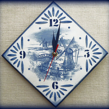 Для дома и интерьера ручной работы. Ярмарка Мастеров - ручная работа Часы в голландском стиле. Handmade.