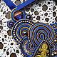 Колье, бусы ручной работы. колье с Торжокским золотым шитьём. Анна Казимирова. Ярмарка Мастеров. Метализированная нить