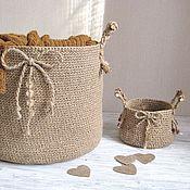 Для дома и интерьера handmade. Livemaster - original item Basket boxes made of jute, jute twine. Handmade.