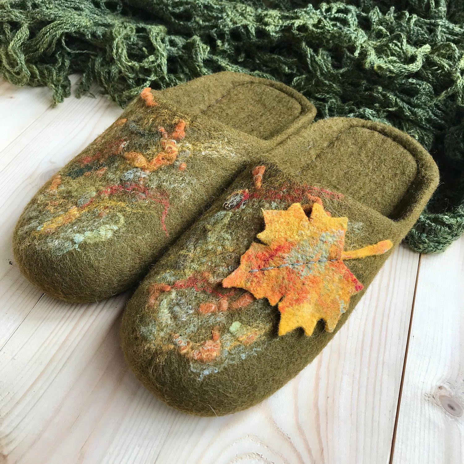 Felted Slippers, Slippers, Kostroma,  Фото №1