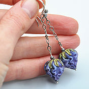 Украшения handmade. Livemaster - original item Long earrings flower Magic. Handmade.