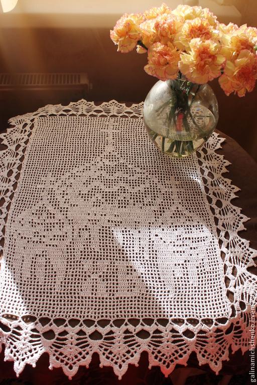 Текстиль, ковры ручной работы. Ярмарка Мастеров - ручная работа. Купить Салфетка № 158 (пасхальная). Handmade. Белый