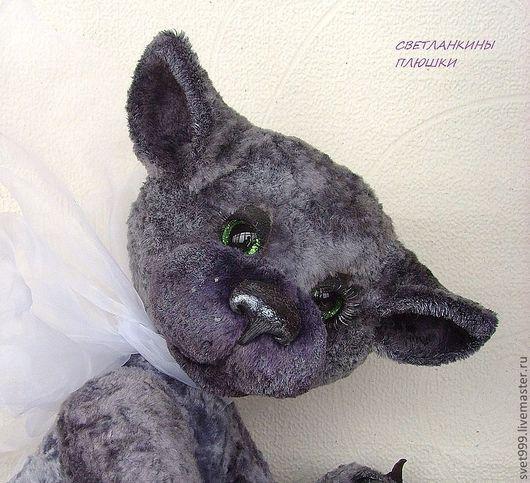 """Мишки Тедди ручной работы. Ярмарка Мастеров - ручная работа. Купить плюшевый котей  """"Матвейка"""". Handmade. Серый, плюш винтажный"""