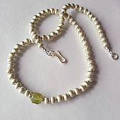 Necklace handmade. Livemaster - original item Beads of silver with wild pomegranate. Handmade.