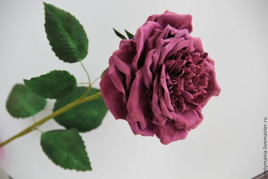 Цветы ручной работы. Ярмарка Мастеров - ручная работа. Купить Роза пионовидная. Фом эва. Handmade. Бордовый, интерьерный букет