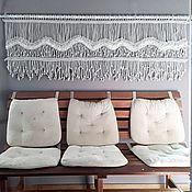 Картины и панно handmade. Livemaster - original item Panel macrame wave horizontal. Handmade.