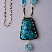 Украшения handmade. Livemaster - original item Necklace Pacifico with Peruvian chrysocolla. Handmade.