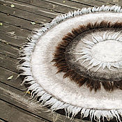 Для дома и интерьера ручной работы. Ярмарка Мастеров - ручная работа Теплый и уютный... Ковер из натуральной шерсти. Handmade.