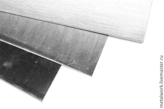 Другие виды рукоделия ручной работы. Ярмарка Мастеров - ручная работа. Купить Нейзильбер листовой ювелирный. Handmade. Серебряный, нейзильбер