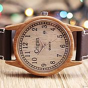 Украшения handmade. Livemaster - original item Wooden watches, men`s watches, beech, 04AD4035BB. Handmade.