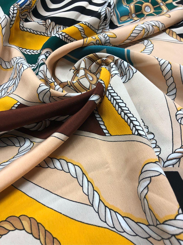 Italian swim fabric ' Sea with letters», Fabric, Taganrog,  Фото №1