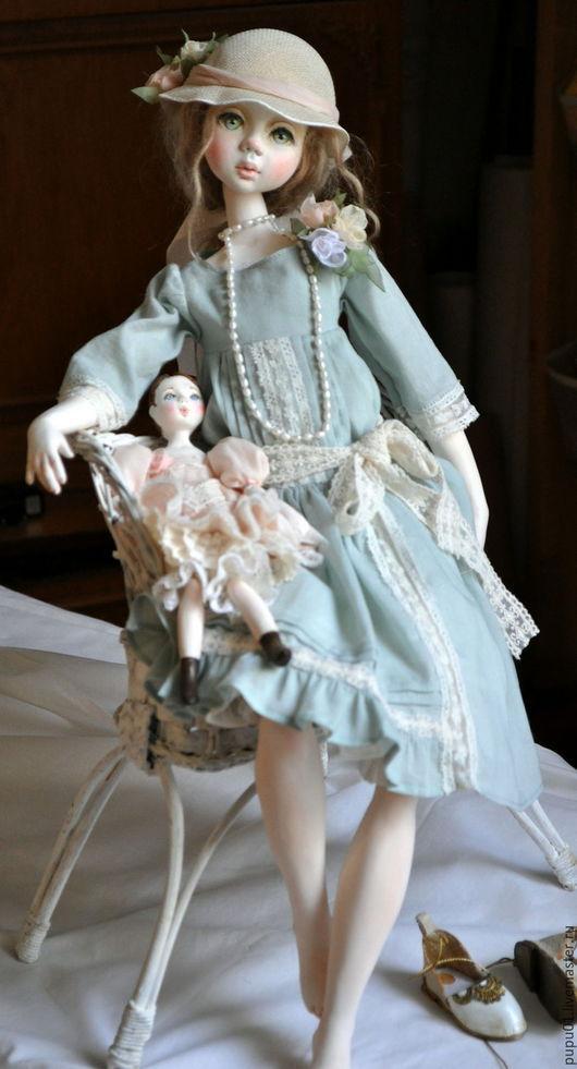 Коллекционные куклы ручной работы. Ярмарка Мастеров - ручная работа. Купить Коллекционная кукла Лили. Handmade. Бирюзовый, текстиль