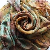 Аксессуары ручной работы. Ярмарка Мастеров - ручная работа Шелковый платок Золотой шафран. Handmade.