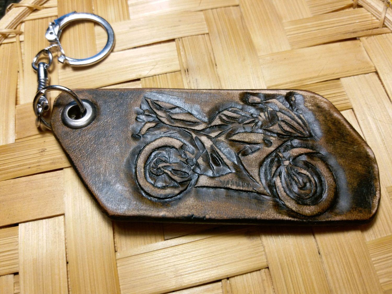 """брелоки  из кожи """"Мотоцикл """", Брелоки, Санкт-Петербург, Фото №1"""