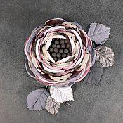 Украшения handmade. Livemaster - original item The brooch is handmade from a fabric of Daddy`s girl. Handmade.