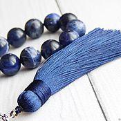 Фен-шуй и эзотерика handmade. Livemaster - original item Beads of Sodalite stone 33. Handmade.