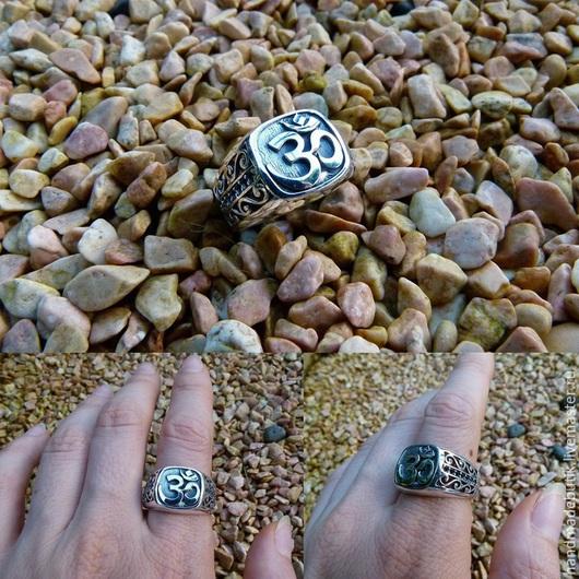 Кольца ручной работы. Ярмарка Мастеров - ручная работа. Купить Перстень Ом УНИСЕКС из серебра 925 пробы. Handmade.