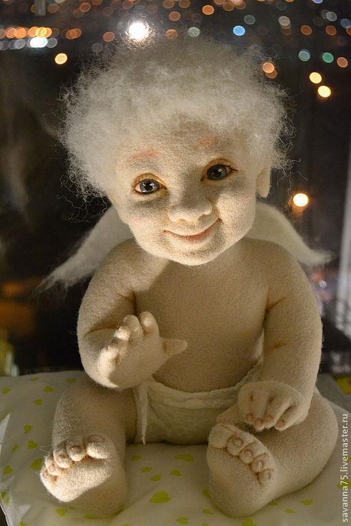 Коллекционные куклы ручной работы. Ярмарка Мастеров - ручная работа. Купить Ангел Арсений. Handmade. Кремовый, ангелочек, пластик