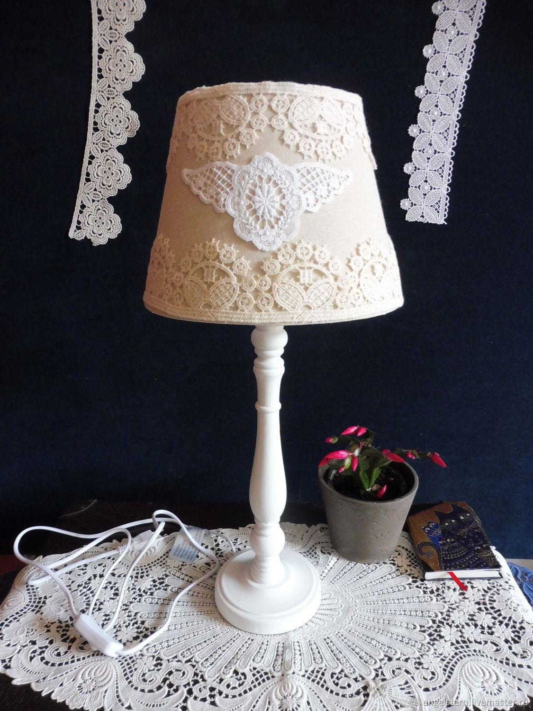"""Настольная лампа """" """"Кружевной медальон"""" (беж), Ceiling and pendant lights, Gera,  Фото №1"""