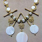 Украшения handmade. Livemaster - original item Set made of pearls and mother of pearl Oriental Treasures of the deep.. Handmade.