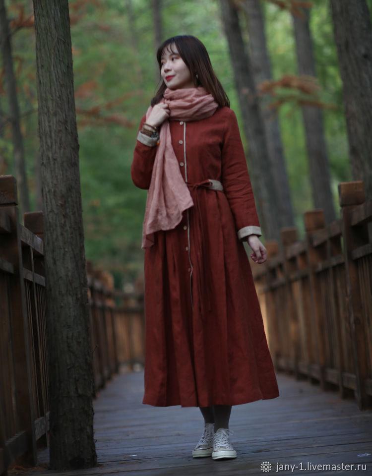 Китайский оригинальный красный кирпич узором платье, Юбки, Гуанчжоу,  Фото №1