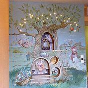 """Для дома и интерьера ручной работы. Ярмарка Мастеров - ручная работа """"волшебное дерево"""" роспись стен в детской комнате. Handmade."""