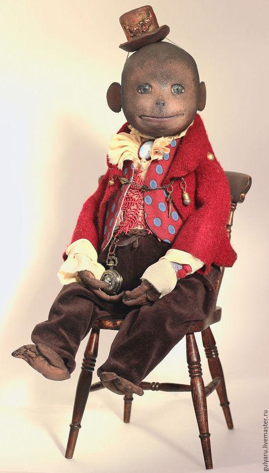 Коллекционные куклы ручной работы. Ярмарка Мастеров - ручная работа. Купить ХТ-2015 - Али. Handmade. Бордовый, обезьяна