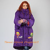 "Одежда handmade. Livemaster - original item Copy of Jacket ""Journey to childhood"", hand painted,large size. Handmade."