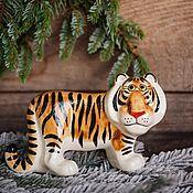 Сувениры и подарки handmade. Livemaster - original item Tiger-the symbol of the year 2022 Figurine. Handmade.
