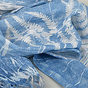 Аксессуары handmade. Livemaster - original item Narrow linen scarf