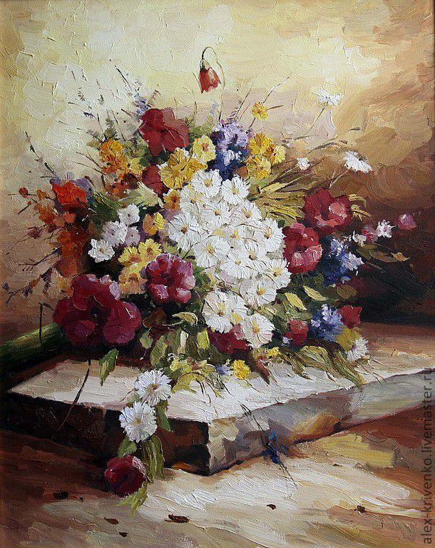 Летний букет полевых цветов, Город, Москва, Фото №1