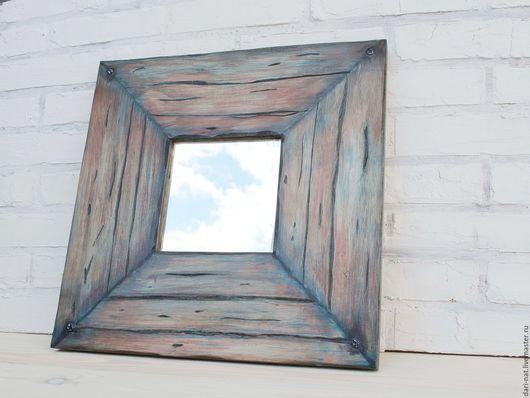 Зеркала ручной работы. Ярмарка Мастеров - ручная работа. Купить Зеркало пирата. Handmade. Тёмно-синий, мужской подарок
