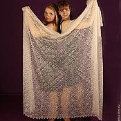 Аксессуары ручной работы. Ярмарка Мастеров - ручная работа 56  пуховый платок паутинка Два метра красоты пуховая шаль. Handmade.