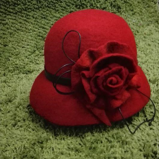 """Шляпы ручной работы. Ярмарка Мастеров - ручная работа. Купить Шляпка """"Рябиновая осень"""". Handmade. Ярко-красный, шляпка"""