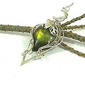 Украшения handmade. Livemaster - original item Pendant: Pendant with birch morning spectrolite.. Handmade.