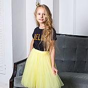 Юбки ручной работы. Ярмарка Мастеров - ручная работа Детская юбка пачка из фатина Лимонный желтый. Handmade.