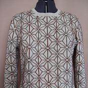 Одежда ручной работы. Ярмарка Мастеров - ручная работа джемпер из шерсти с вышивкой Норвежские звезды. Handmade.