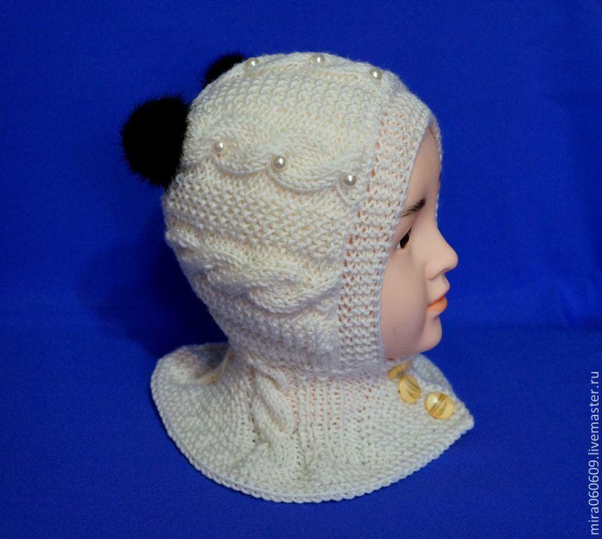 Вязание для девочек шапка шлем 617