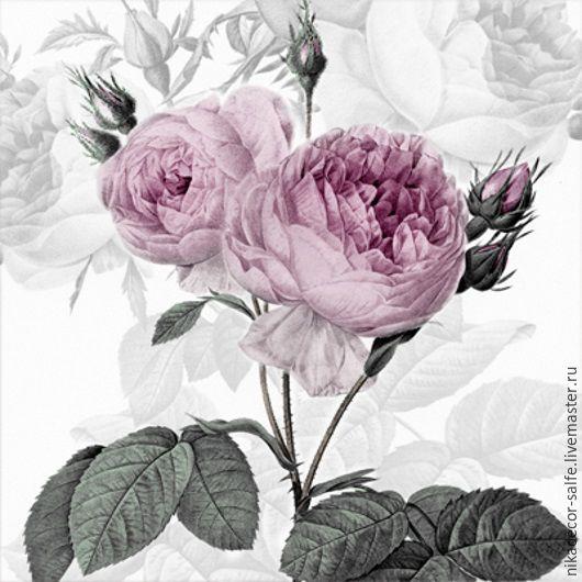 Декупаж и роспись ручной работы. Ярмарка Мастеров - ручная работа. Купить Лиловые розы (80077) 33х33 салфетка для декупажа. Handmade.