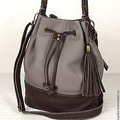 """""""Узелок"""" -  кожаная сумка-торба, натуральная кожа, без кисточки"""
