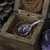 """Украшения ручной работы. Ярмарка Мастеров - ручная работа Кулон """"Claw"""" - серебряная лапа с аметистом. Handmade."""