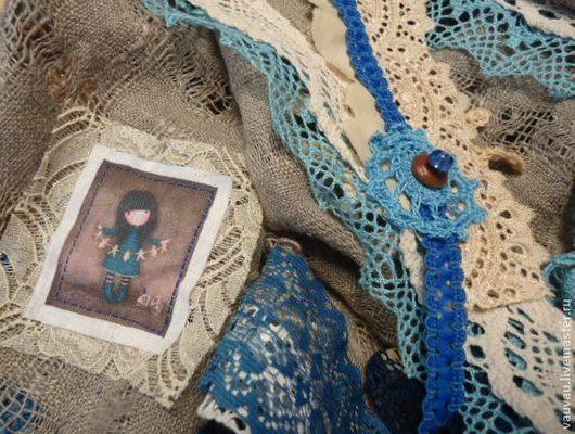 Шарфы и шарфики ручной работы. Ярмарка Мастеров - ручная работа. Купить Бохо косынка Бирюза на сером. Handmade. Абстрактный, подарок