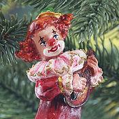 Для дома и интерьера ручной работы. Ярмарка Мастеров - ручная работа Елочные игрушки. клоун, фигурка, статуэтка.. Handmade.