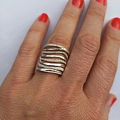 Украшения handmade. Livemaster - original item Original silver ring. Large ring.. Handmade.